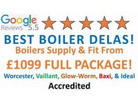 Worcester & Vaillant Supply & Fit £1499/Expert Boiler Installation,Repair&Service/Gas certificate*