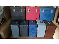 RECORD CASES ORIGINAL 1960-70'S HOLD APPROX 75 LP'S CHOICE OF COLOURS