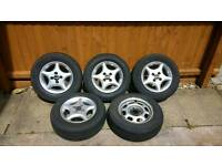 Rare Team Dynamics 4-stud alloy wheels