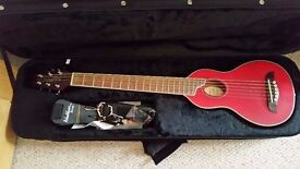 Washburn rover rO10 travel acoustic guitar - previously owned by prog rock musician