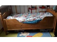 Children's bed pine 185 long 90 wide