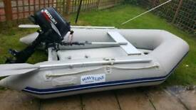 Rib boat and outboard