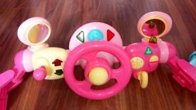Early learning centre pink steering wheel