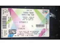 !!TICKET SWAP!!STANDING TICKETS FOR SHANIA TWAIN-looking to swap for 4sitting together
