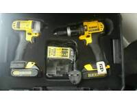 DEWALT 14.4 TWIN COMBI DRILL + IMPACT DRIVER +CHARGER +CASE