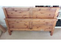 Wooden Standard Double Bed Headboard & Matching Foot