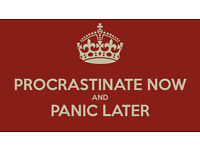 Cleaning for procrastinators and dawdlers