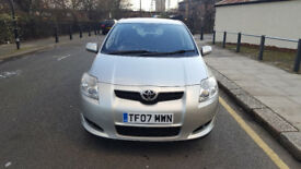 2007 Toyota Auris 1.6 Silver 5dr hatchback Manual Petrol MOT Jul2018 full service history 2keys