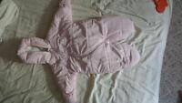 Snow suit, very warm, 3m, pink