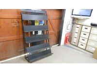 industrial metal adjustable 4 shelf tool storage unit. can deliver. this dismantles completely
