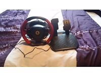 Xbox one steering wheel and pedals
