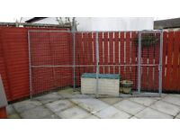 Dog run fencing and dog box