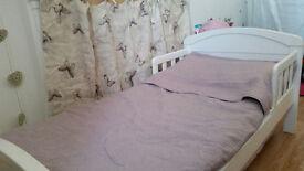 Toddler Bed Frame - White