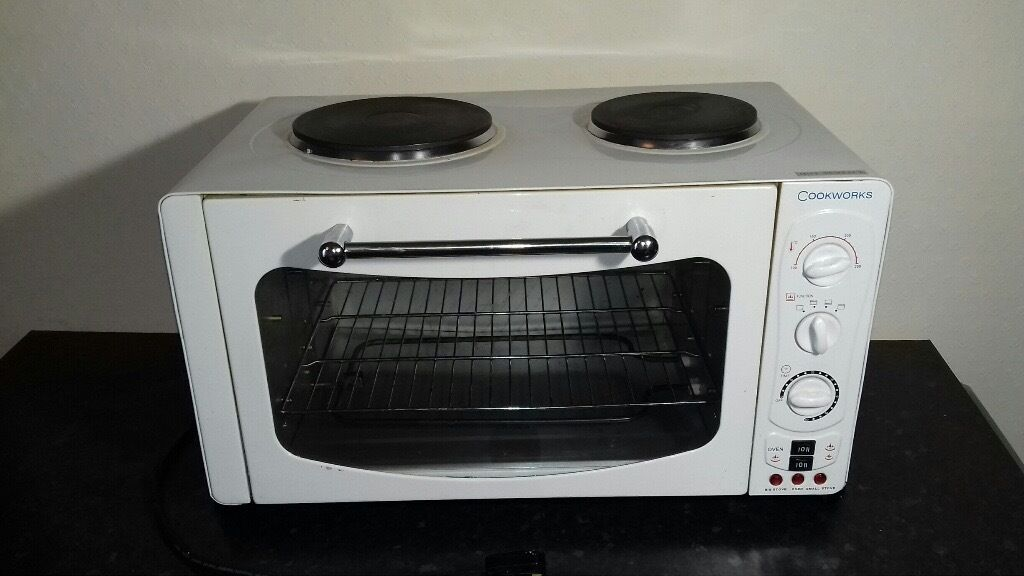 Cookworks Mini Oven with 2 hobs