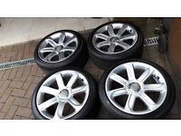 Genuine Audi vw alloy wheels 18 inxh pxd 5x112
