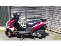 Longjia Raptor 125cc 4 stroke moped.
