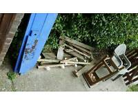 Free wood and chairs