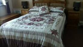 Quilted double bed set