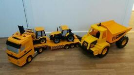 JCB Transporter lorry with sounds, Dumper and tractors