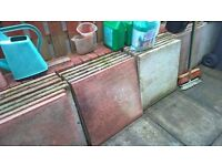 WHITE & PINK 60CM SQUARE SLABS IN GOOD CONDITION 64.5