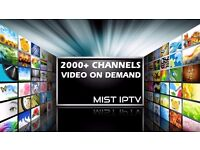 IPTV subscription (3 Months) for over 2000+ channels including Premiership Football