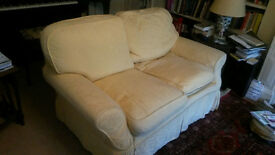 2 seater sofa, gold colour