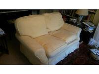 2 seater sofa, gold colour