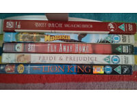 Assorted DVDs U ~ Bugsy Malone, Fly Away Home, The Lion King, and more
