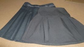 Grey school skirt