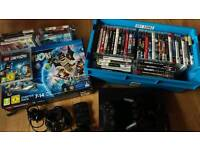 Ps3 slimline 120gb and 47 games including New Lego dimension starter pack