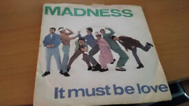 "Madness 7"" Vinyl It Must Be Love-Stiff-BUY 134-UK-1981"