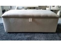 Reduced £60 BRAND NEW OTTOMAN with Lined Storage available in CREAM or (BROWN BEIGE) CAN DELIVER