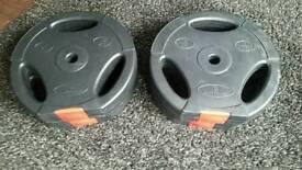 4 x 10 kg vinyl weights