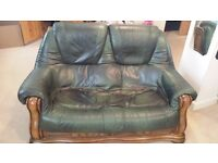 2 seater faux leather sofa, good condition, pick up Beverley road