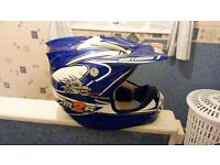 M2R motorcross helmet size medium excellent condition with carry bag