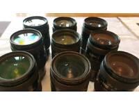 9 x Nikon AF D 35-70mm f/2.8 D AF Lens Joblot spare repairs bundle FREE uk delivery