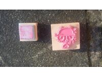 Large bundle of 35 Rubber Stamps Joblot Smirk Bath Love Christmas
