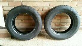 2 x Used Classic car tyres