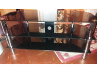 Black glass coffee table/tv stand very good condition £10
