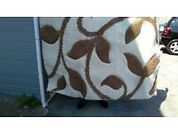 brown and cream thick shaggy pile rug rrp £80