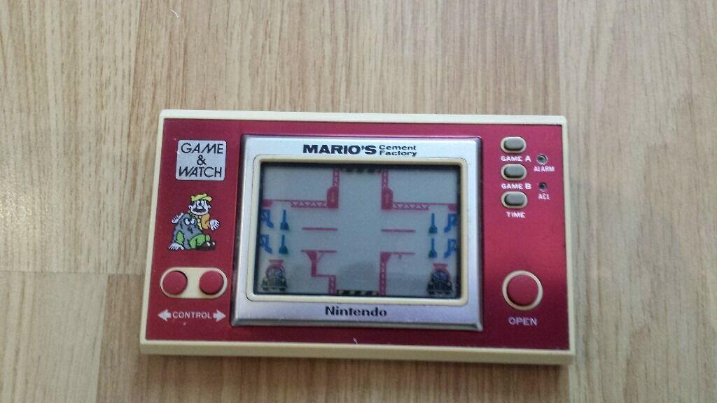 Vintage, Retro, Collectible Nintendo GAME & WATCH MARIO'S Cement Factory 1983