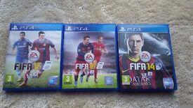 Fifa16,Fifa14 and fifa 15 £7 ps4