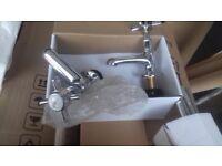 basin victorian style chrome taps