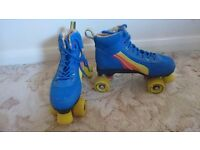 Blue rio roller quad skates size 7 nearly new