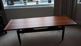 coffee table- G plan Mid century (vintage) teak with black legs
