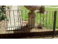 Pair of wrought iron driveway gates
