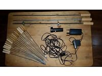 Cypriot Barbeque Accessories - Motors, Large and Small Skewers, Spit forks hooks - as New