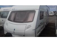 2004 ACE AWARD. FIXED BED. SHOWER CUBICLE. 'L' SHAPE LOUNGE. AWNING. ALL ACCESSORIES FOR HOLS.