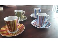 Espresso cups with saucers