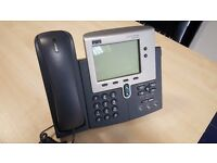 Cisco CP-7940G IP Phone VOIP Telephone LCD Display Ethernet Unified Handset